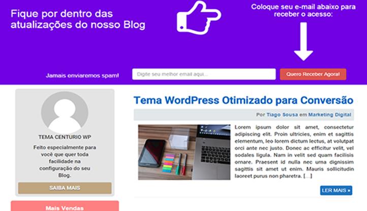 Centurio WP - Tema WordPress Otimizado para Conversão