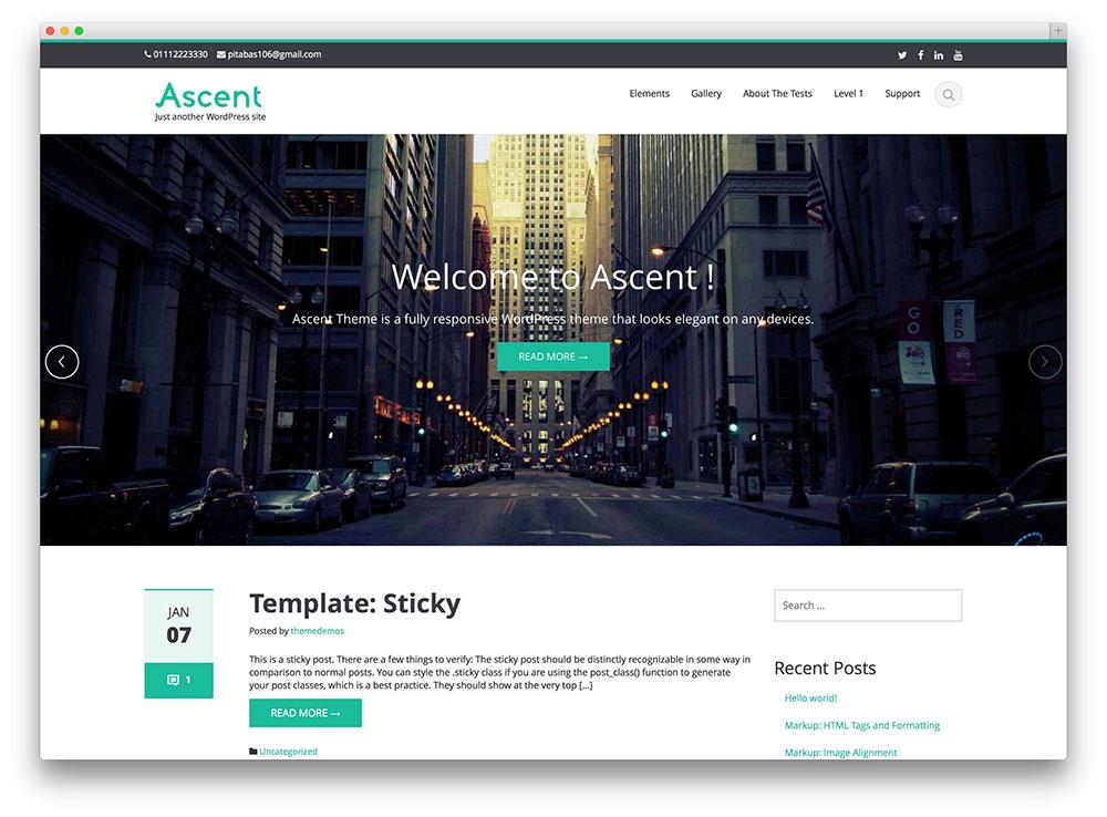 Temas Para WordPress Grátis Ascent