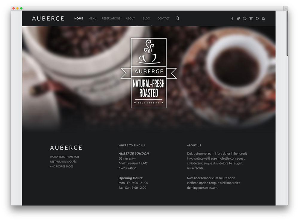 Temas Para WordPress Grátis Auberge