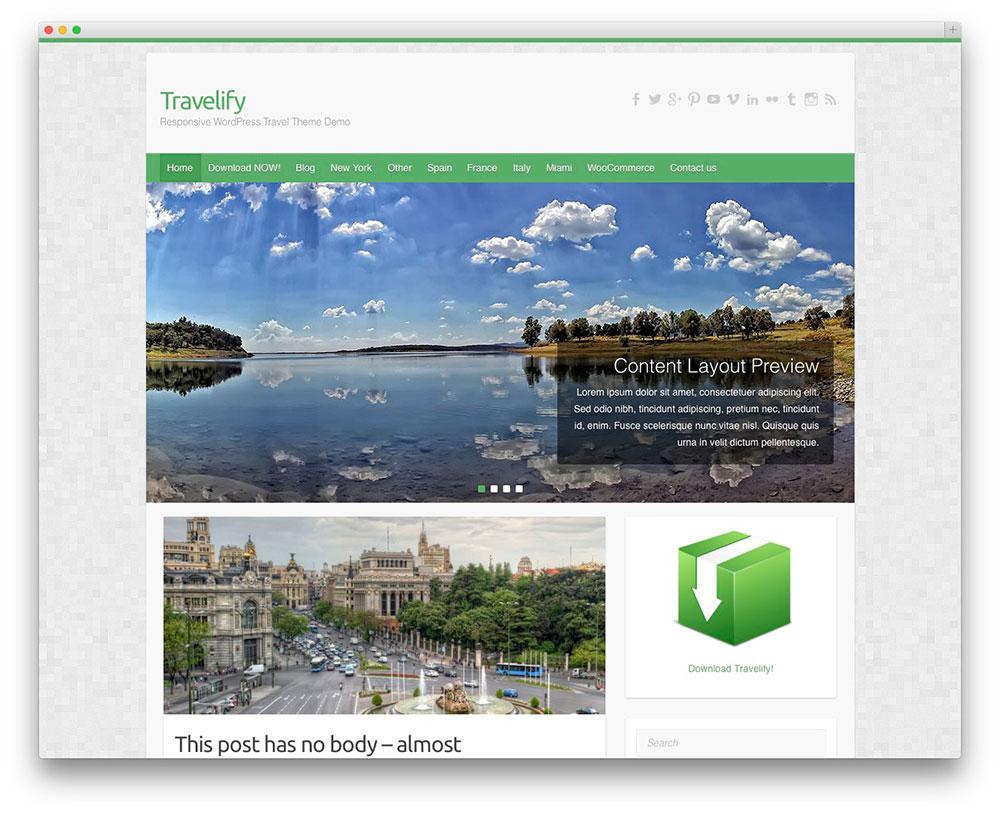 Temas Para WordPress Grátis #4: Travelify